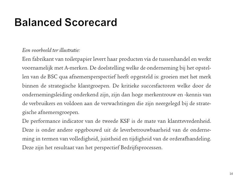 16 Balanced Scorecard