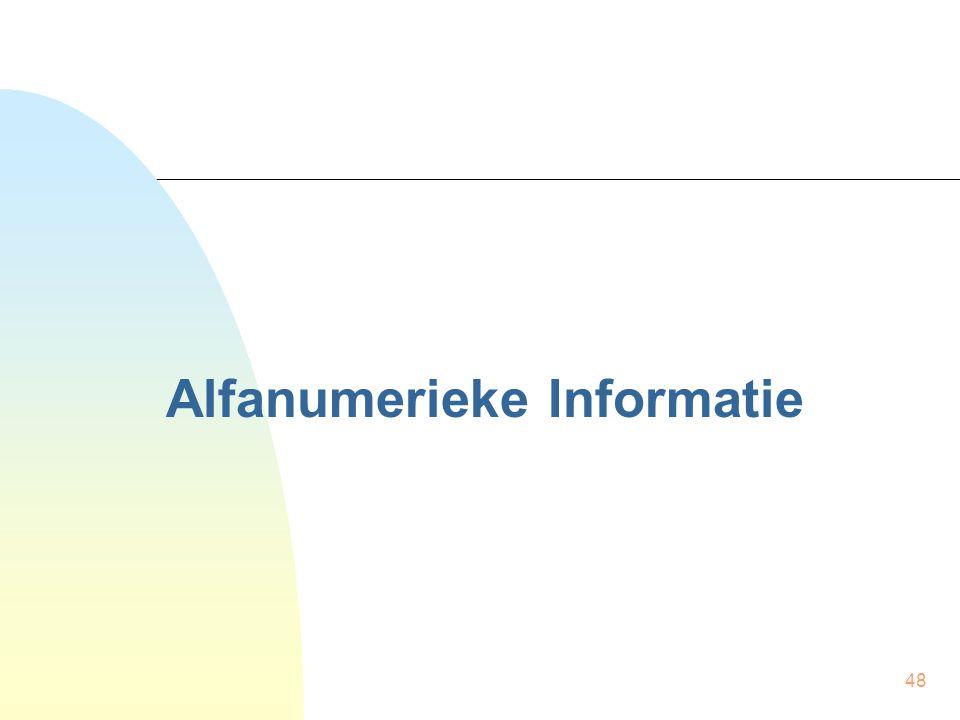 48 Alfanumerieke Informatie