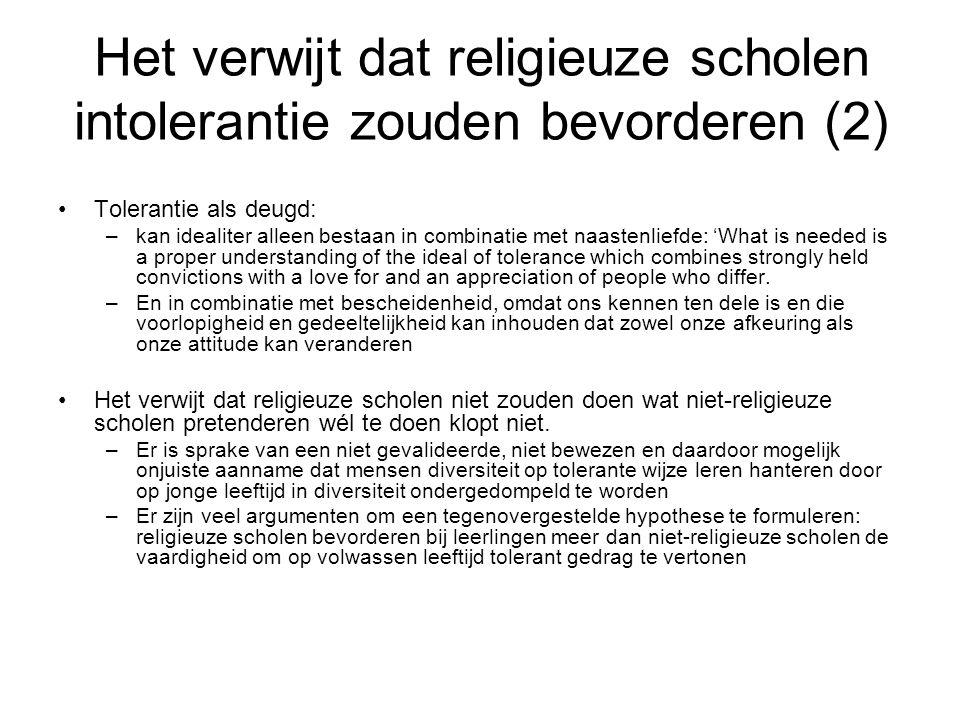 Het verwijt dat religieuze scholen zouden indoctrineren (1) Probleem 1: de betekenis van 'indoctrineren' is onhelder –Inhoud.