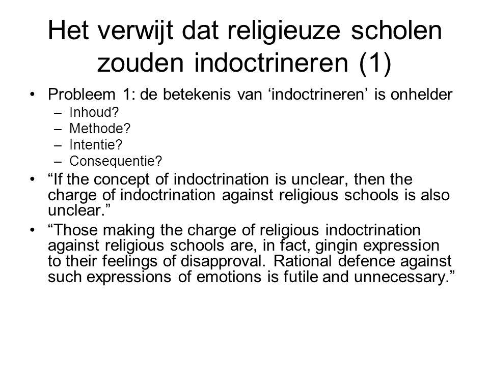 Het verwijt dat religieuze scholen zouden indoctrineren (2) Probleem 2: het idee van indoctrinatie gaat uit van een onderscheid tussen objectieve, rationele, feitelijke kennis die superieur is en subjectieve, irrationele ervaringskennis die inferieur is.