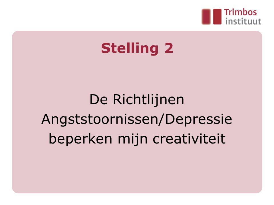 Stelling 2 De Richtlijnen Angststoornissen/Depressie beperken mijn creativiteit