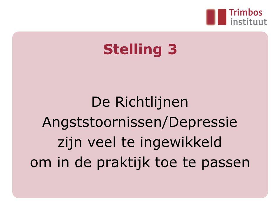 Trimbos-instituut 2007 7 Projectorganisatie Uitvoering: Richtlijnconsortium Nederland, waarin o.a.