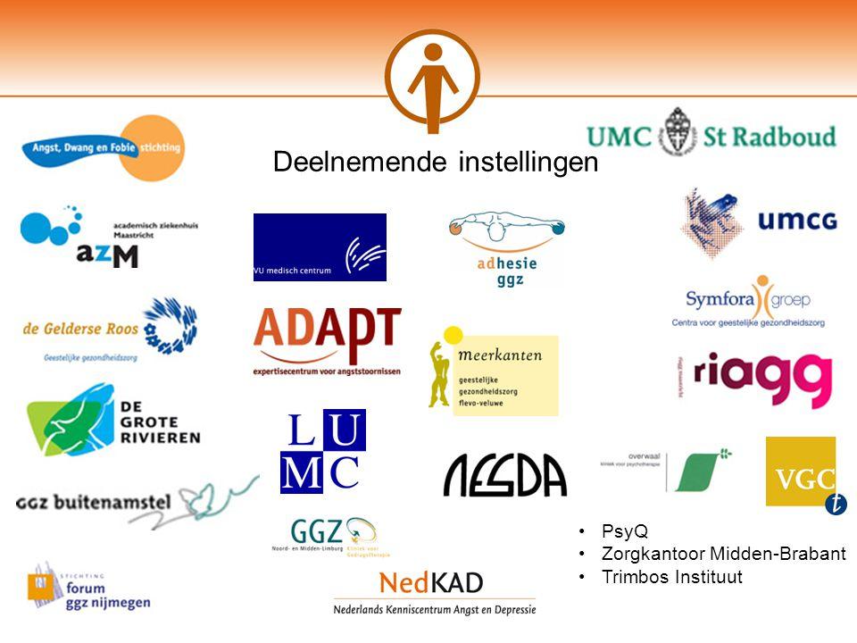 PsyQ Zorgkantoor Midden-Brabant Trimbos Instituut Deelnemende instellingen
