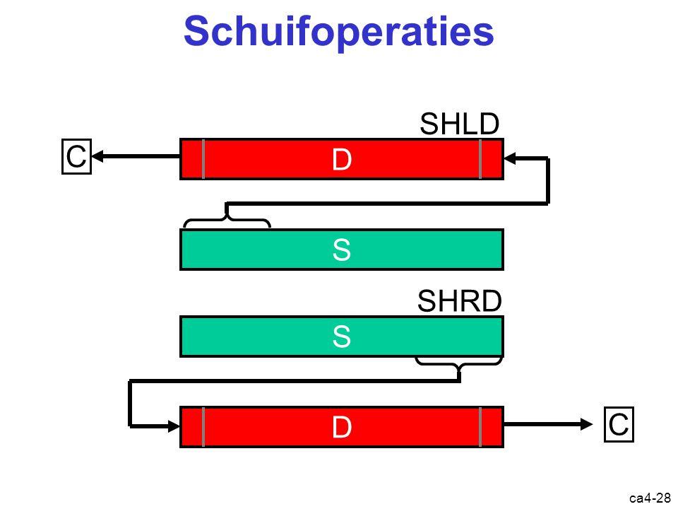 ca4-28 Schuifoperaties D C SHLD S S C SHRD D