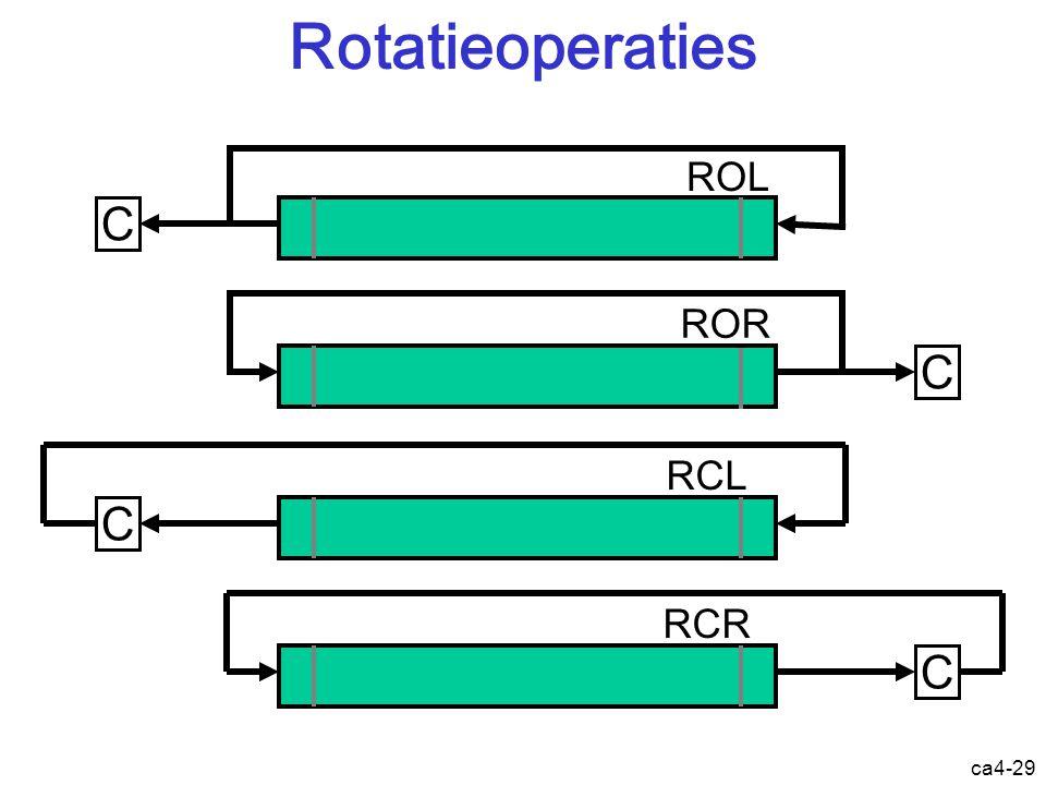 ca4-29 Rotatieoperaties C ROL C ROR C RCL C RCR Instructie: rotatieoperatie