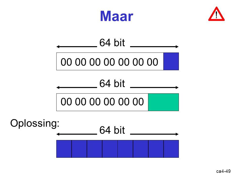 ca4-49 Maar 00 00 00 00 00 00 00 00 00 00 64 bit Oplossing: