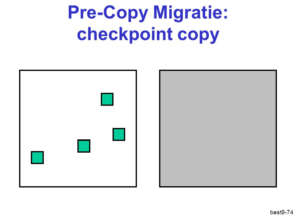 Pre-Copy Migratie: checkpoint copy best9-74