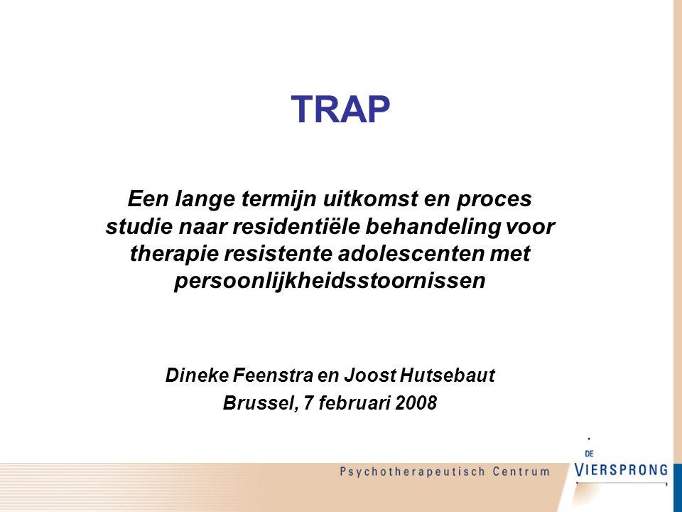 Doel van de presentatie  Theoretische achtergrond TRAP-studie  Introductie onderzoeksdesign TRAP  Eerste (voorlopige) resultaten
