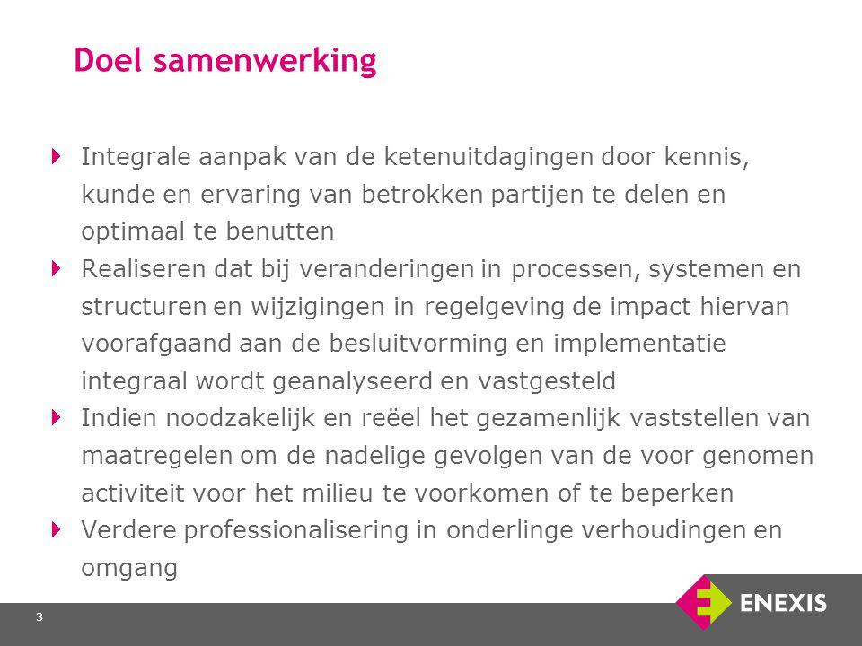 3 Doel samenwerking Integrale aanpak van de ketenuitdagingen door kennis, kunde en ervaring van betrokken partijen te delen en optimaal te benutten Re