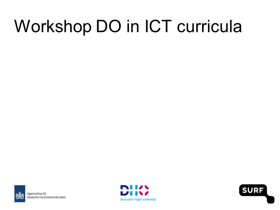 Workshop DO in ICT curricula