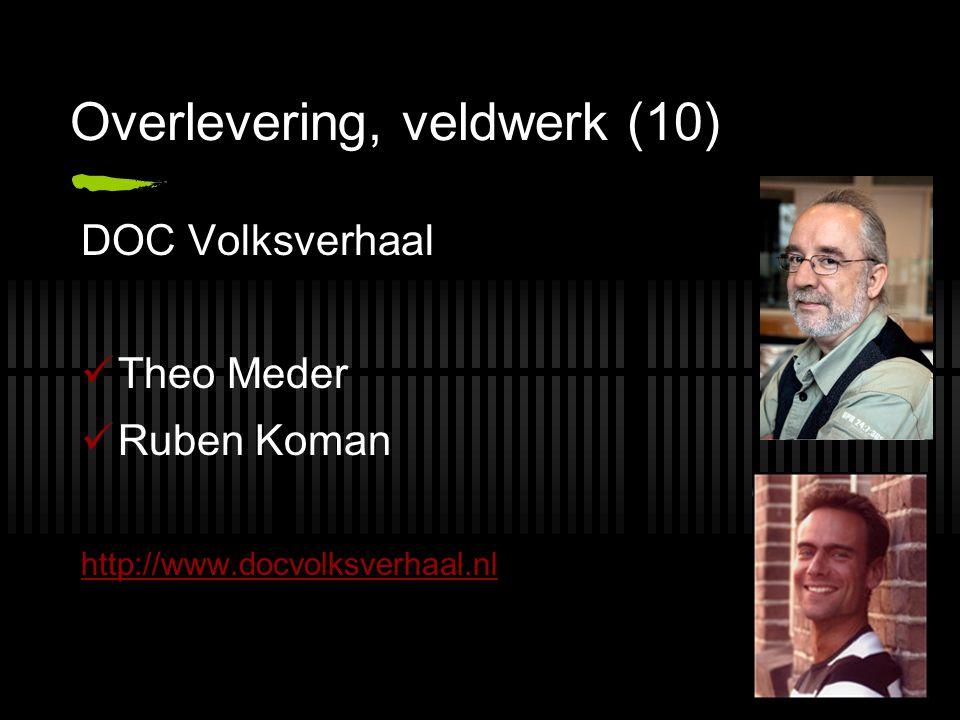 Overlevering, veldwerk (10) DOC Volksverhaal Theo Meder Ruben Koman http://www.docvolksverhaal.nl