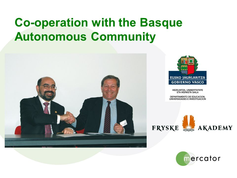Co-operation with the Basque Autonomous Community