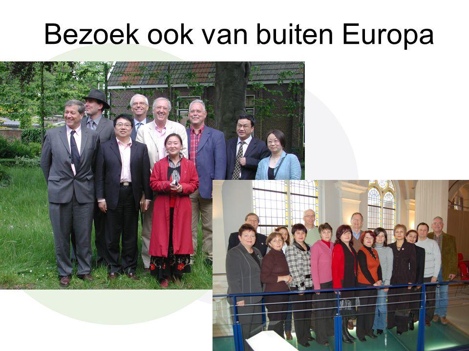 Bezoek ook van buiten Europa