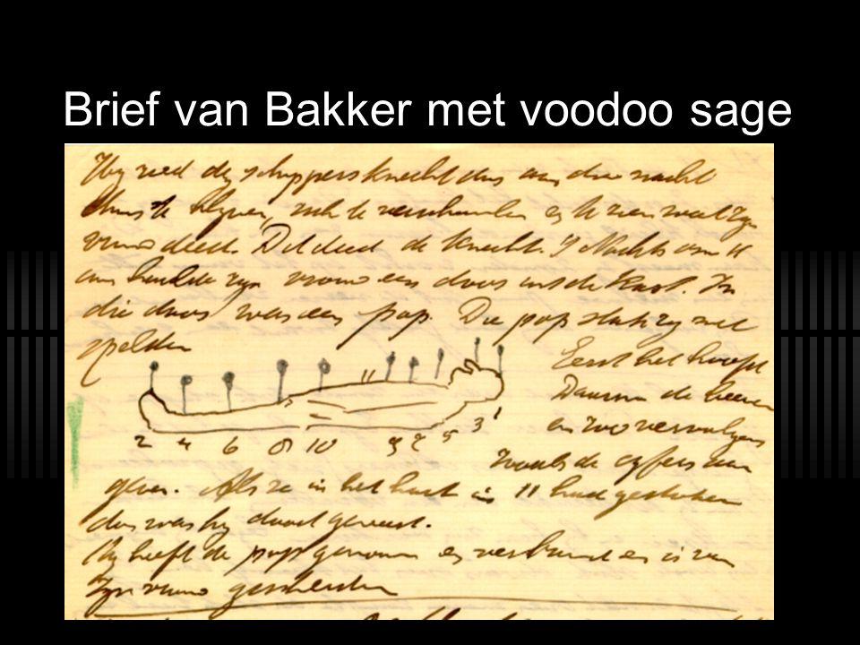 Brief van Bakker met voodoo sage