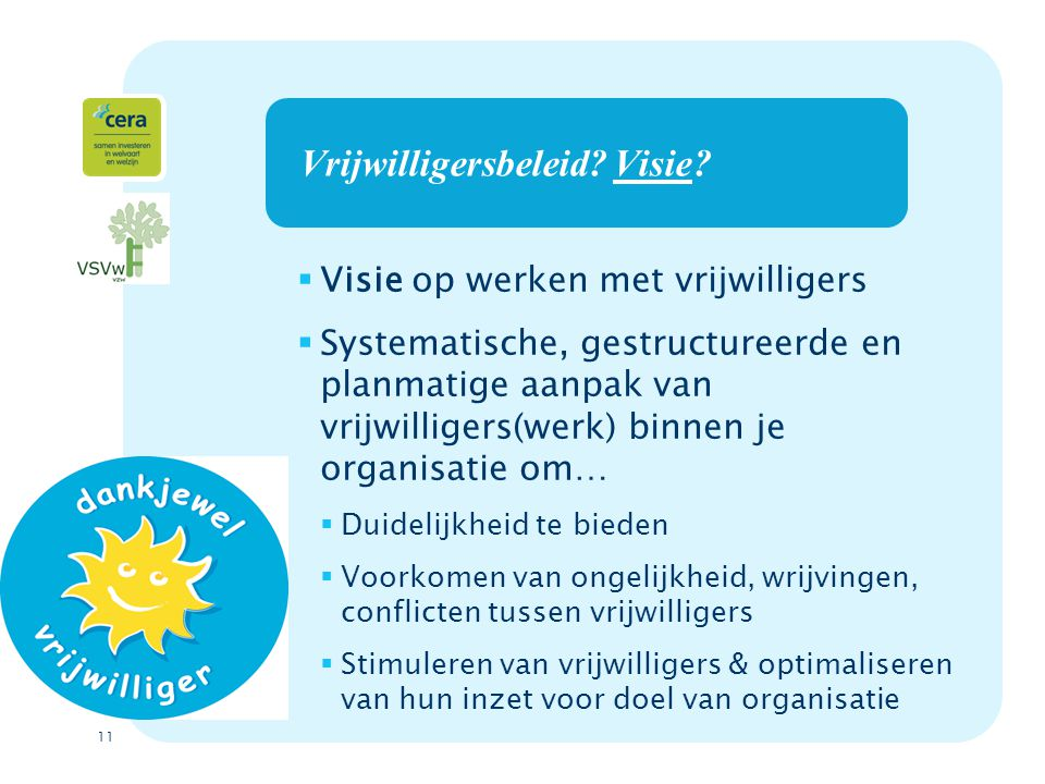 11 Vrijwilligersbeleid.Visie.