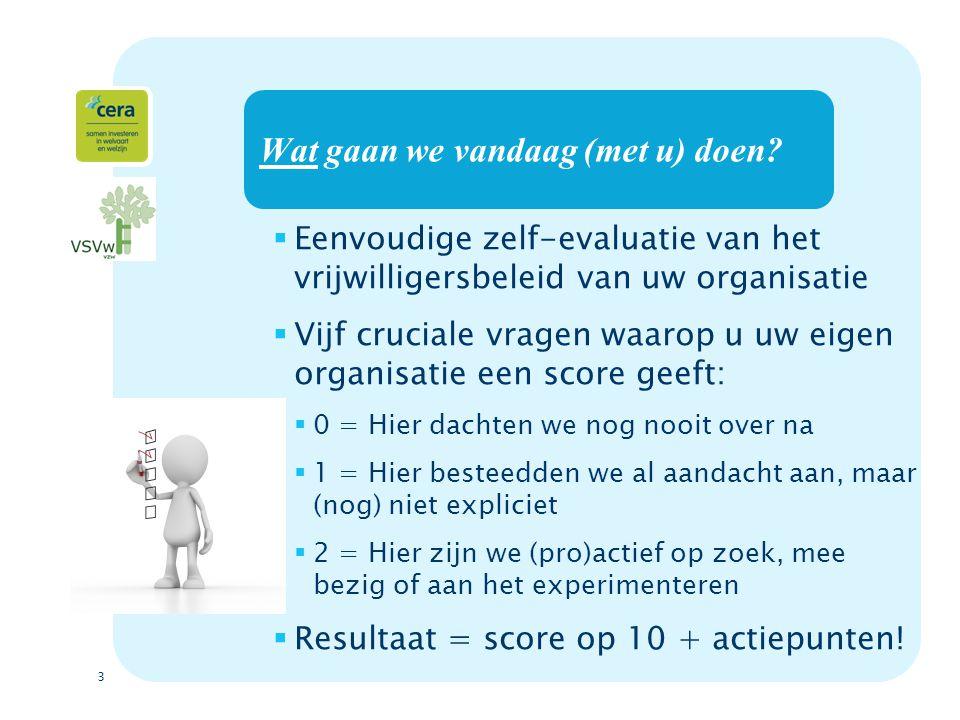 4 Vijf cruciale vragen  1.In orde met vrijwilligerswet.