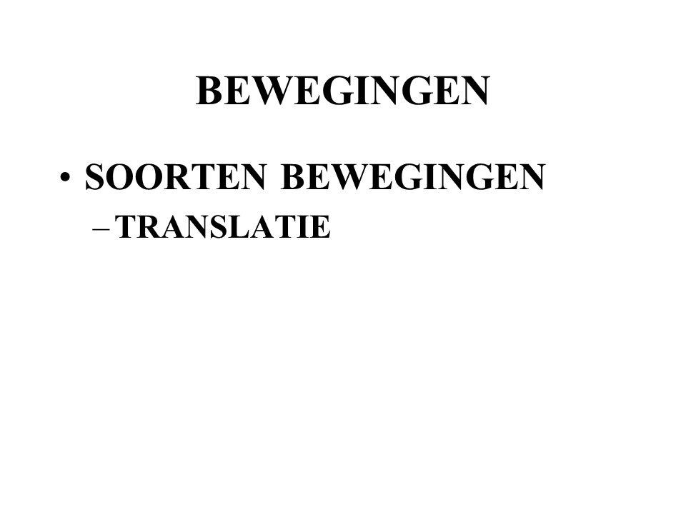 BEWEGINGEN SOORTEN BEWEGINGEN –TRANSLATIE