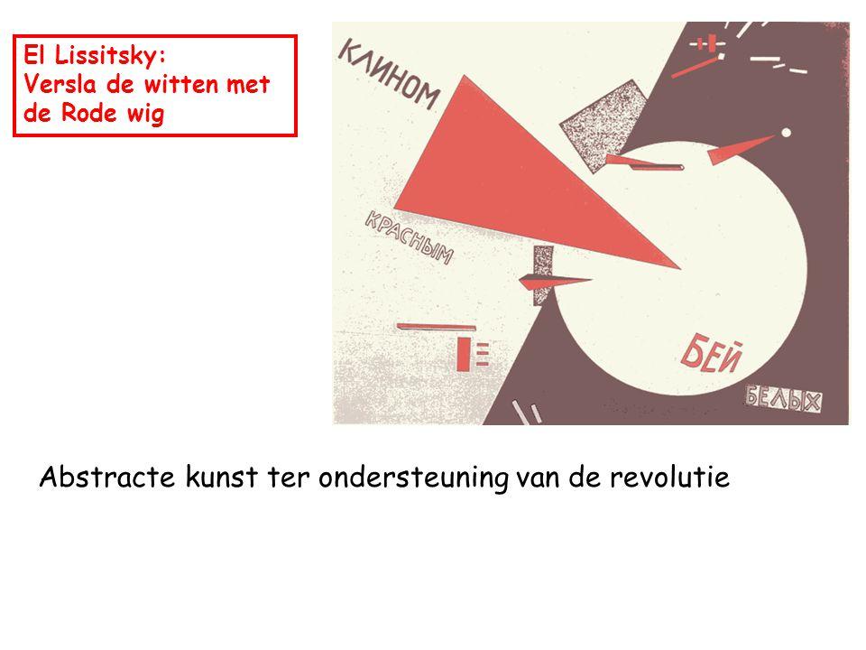El Lissitsky: Versla de witten met de Rode wig Abstracte kunst ter ondersteuning van de revolutie