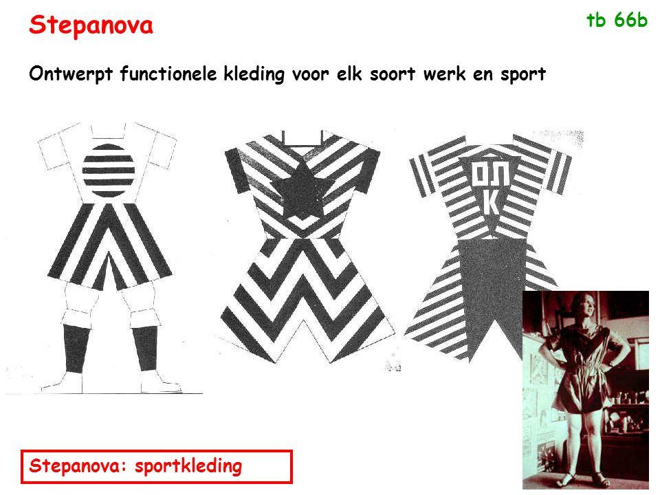 Stepanova: sportkleding Ontwerpt functionele kleding voor elk soort werk en sport tb 66b Stepanova