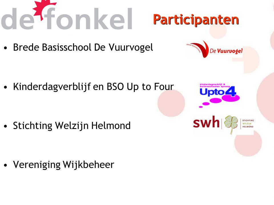 Brede Basisschool De Vuurvogel Kinderdagverblijf en BSO Up to Four Stichting Welzijn Helmond Vereniging Wijkbeheer Participanten