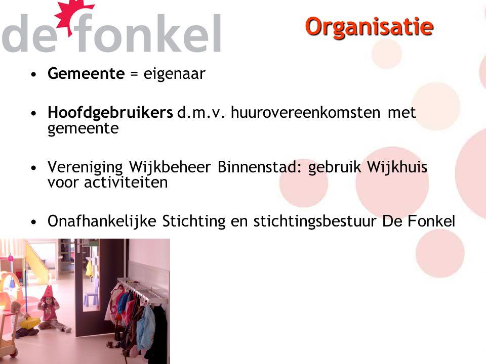 Gemeente = eigenaar Hoofdgebruikers d.m.v.