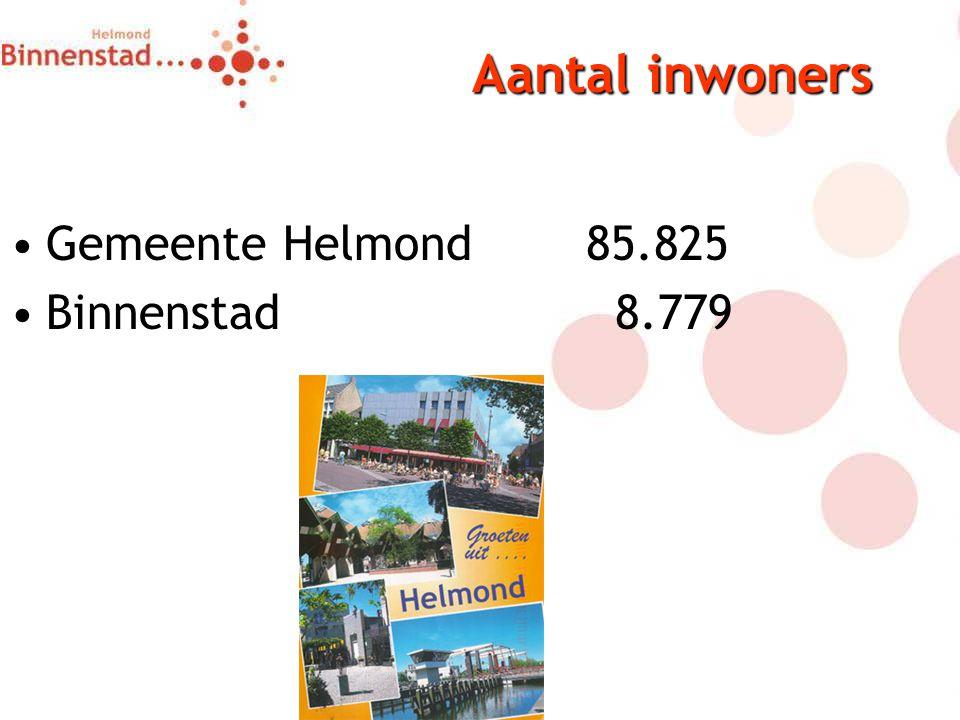 Aantal inwoners Gemeente Helmond85.825 Binnenstad 8.779