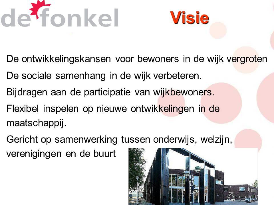 Visie De ontwikkelingskansen voor bewoners in de wijk vergroten De sociale samenhang in de wijk verbeteren.