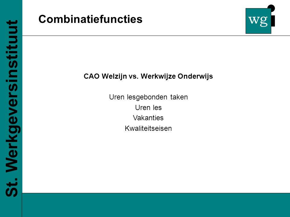 wg Combinatiefuncties St. Werkgeversinstituut CAO Welzijn vs.
