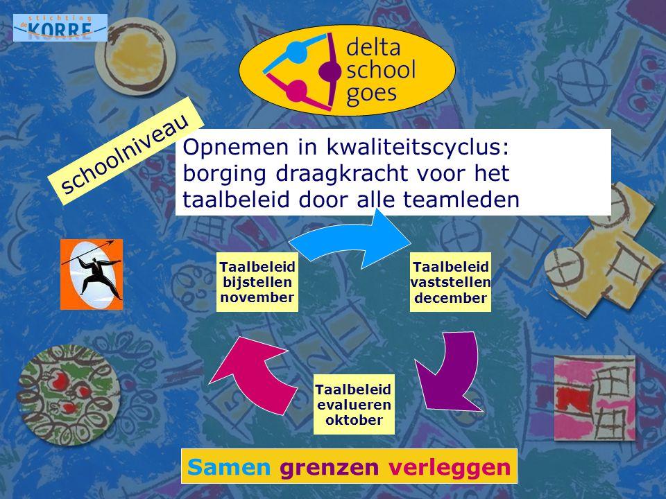 Samen grenzen verleggen Scholing DGM (logopedisten en taalcoördinatoren).