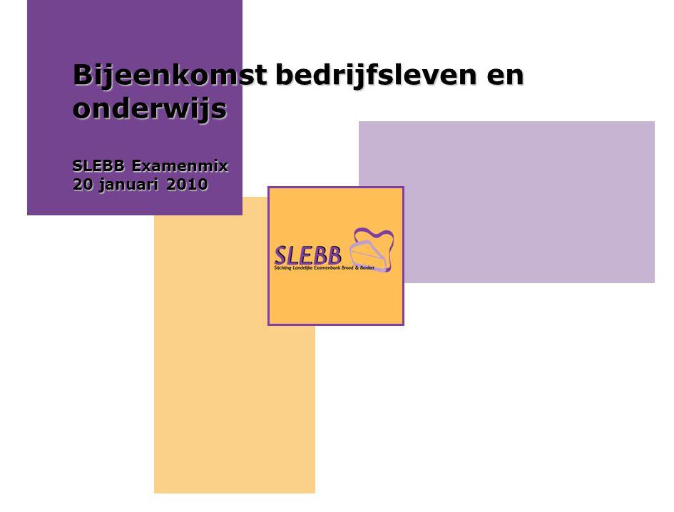 Bijeenkomst bedrijfsleven en onderwijs SLEBB Examenmix 20 januari 2010
