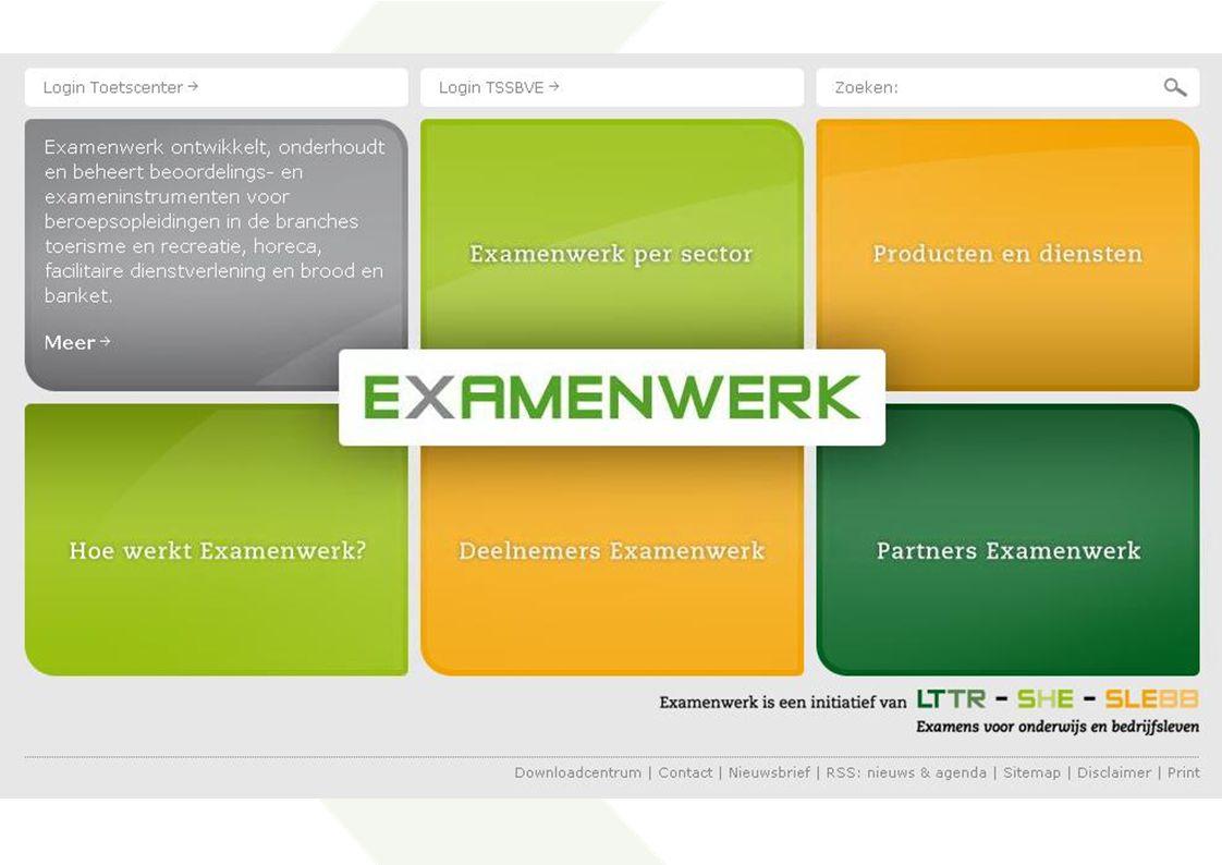 Website www.examenwerk.nl