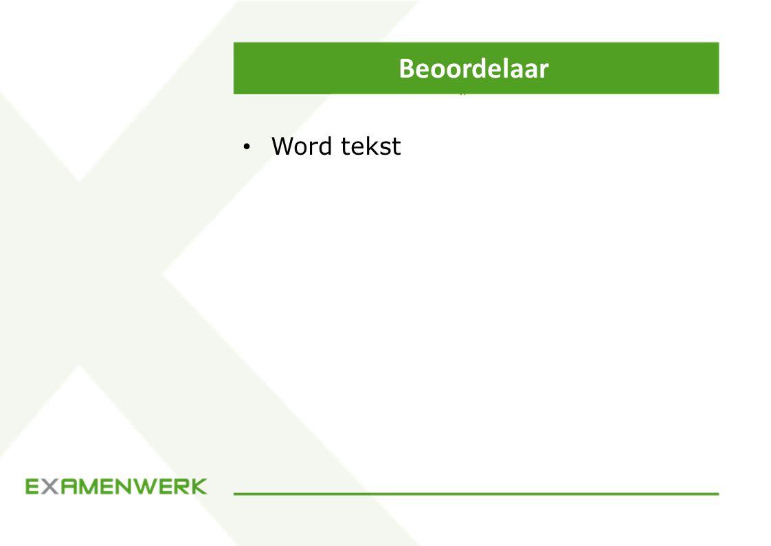 Beoordelaar Word tekst