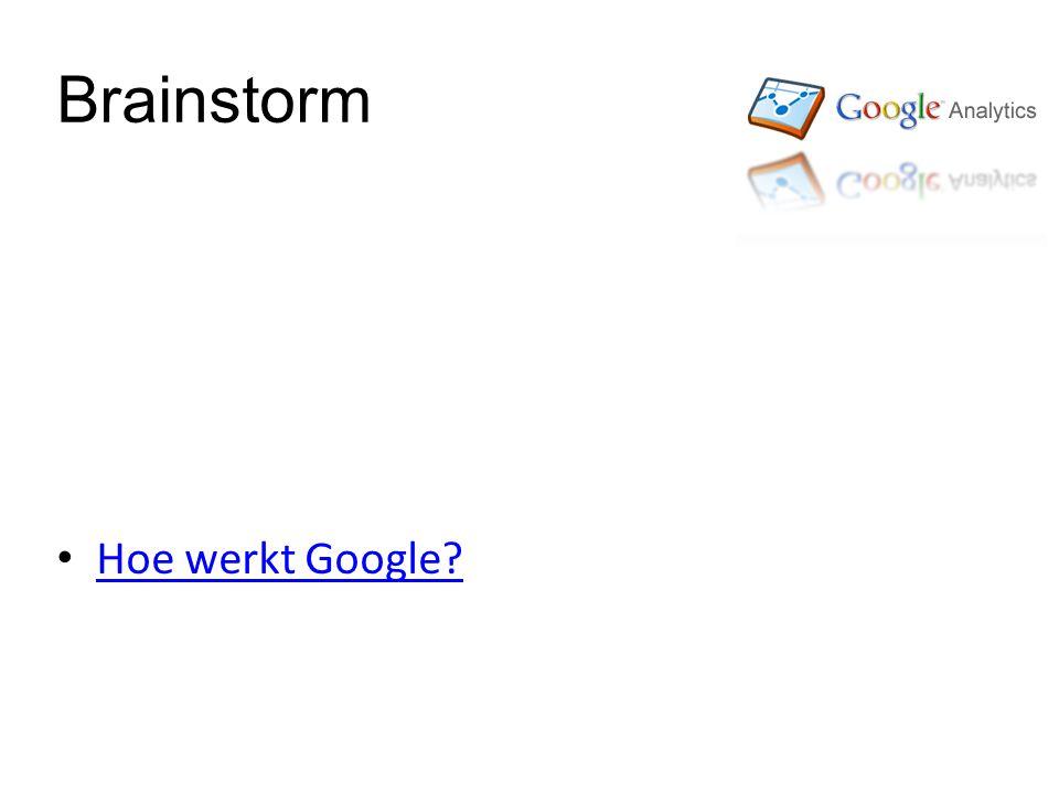 Brainstorm Hoe werkt Google?