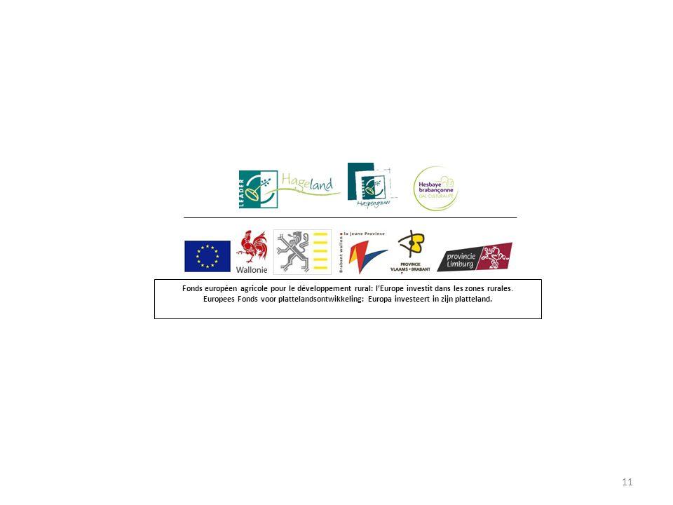 11 Fonds européen agricole pour le développement rural: l'Europe investit dans les zones rurales.
