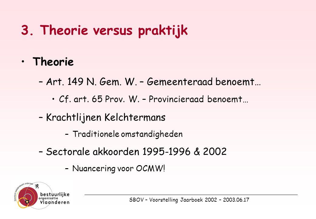 SBOV – Voorstelling Jaarboek 2002 – 2003.06.17 Praktijk – 2 e kwartaal 2001 (Bron: RSZPPO)
