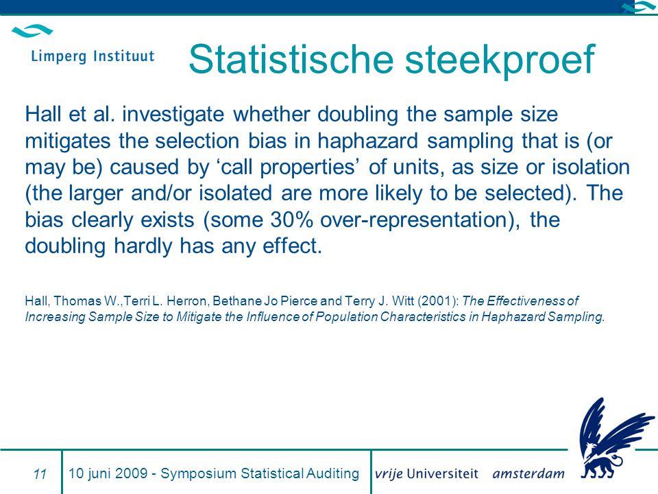 Statistische steekproef Hall et al.