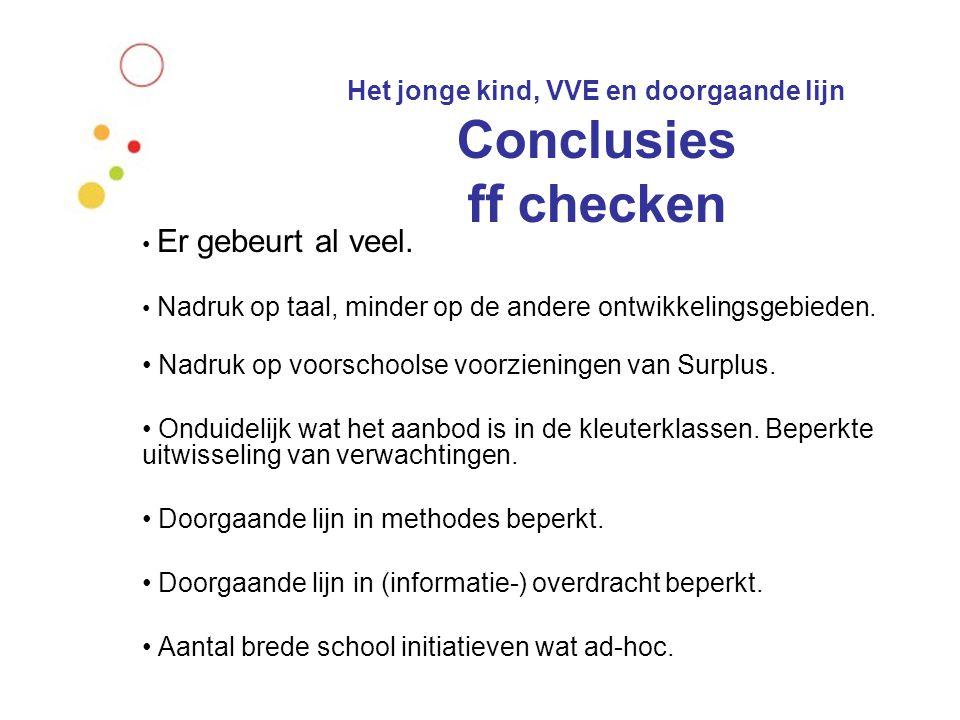 Het jonge kind, VVE en doorgaande lijn Besluit:  Elk kind heeft recht op deelname aan een voorschoolse voorziening.