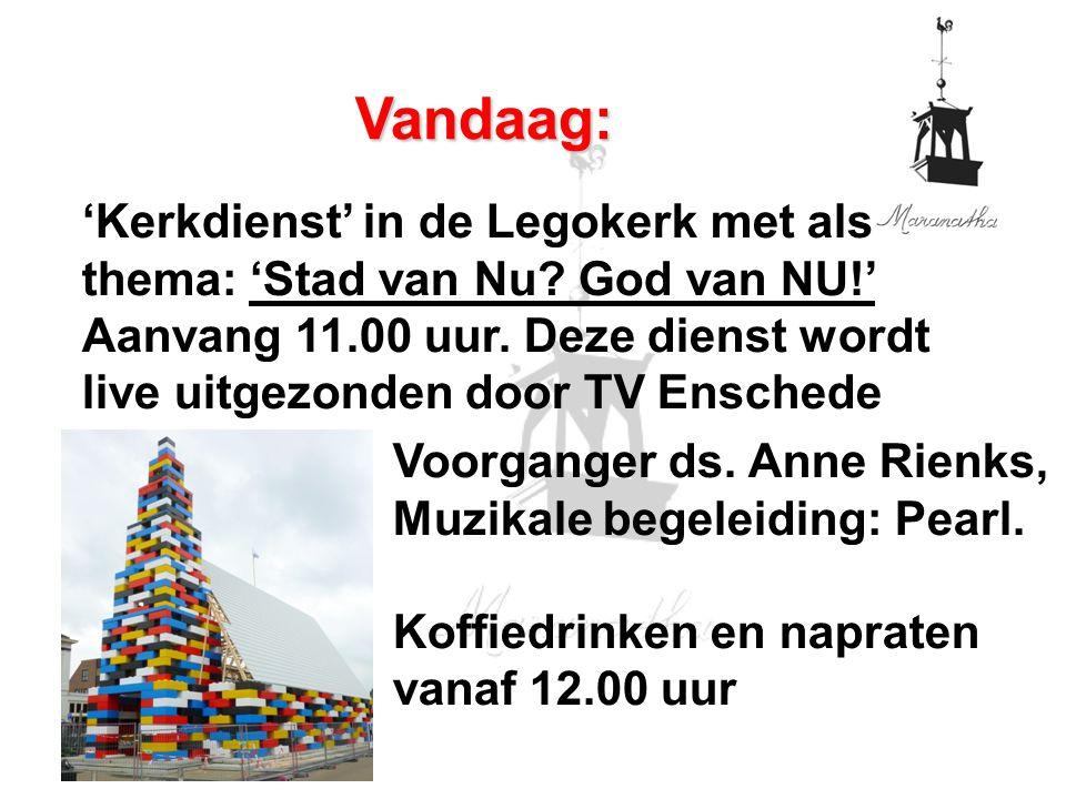 'Kerkdienst' in de Legokerk met als thema: 'Stad van Nu.