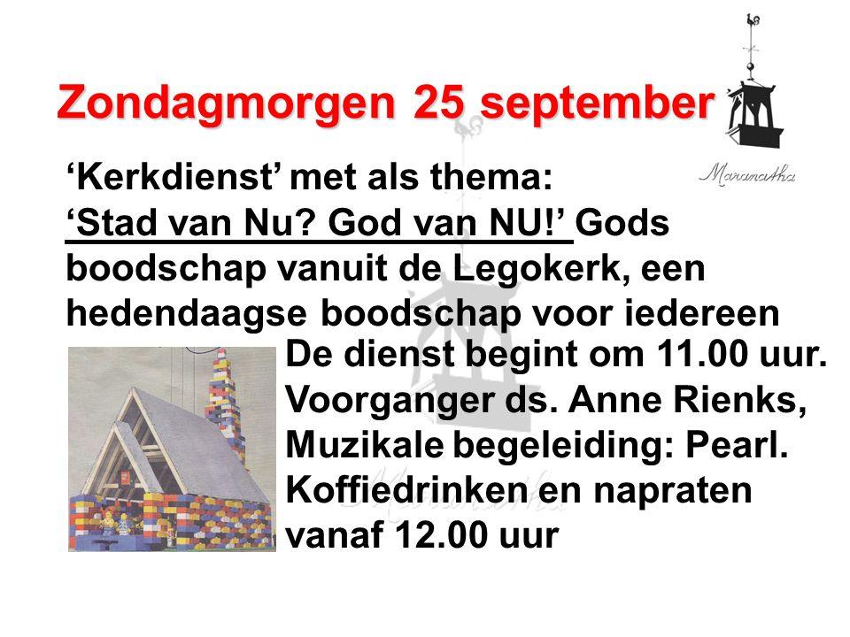 'Kerkdienst' met als thema: 'Stad van Nu.