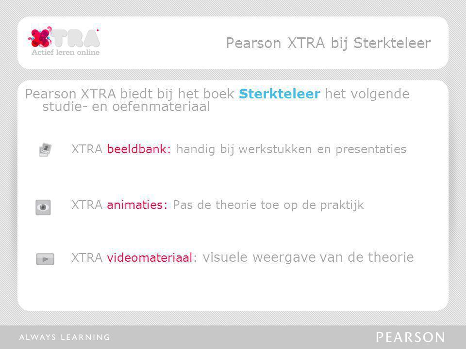 Pearson XTRA biedt bij het boek Sterkteleer het volgende studie- en oefenmateriaal XTRA beeldbank: handig bij werkstukken en presentaties XTRA animati
