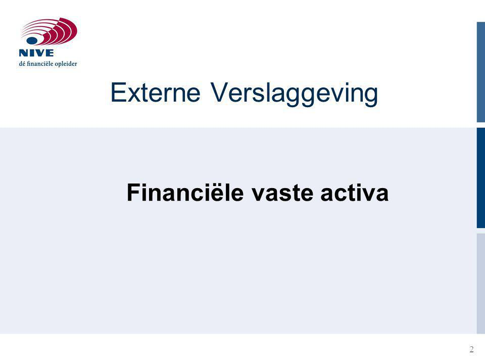 2 Externe Verslaggeving Financiële vaste activa