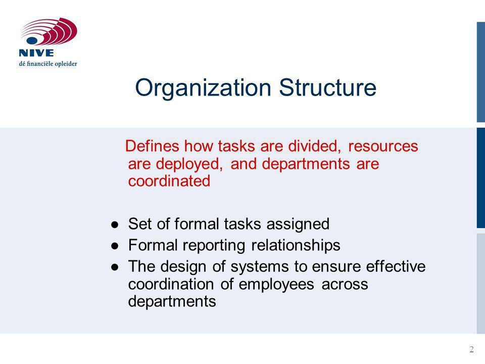 3 The Organization Chart Visual representation of an organizational structure