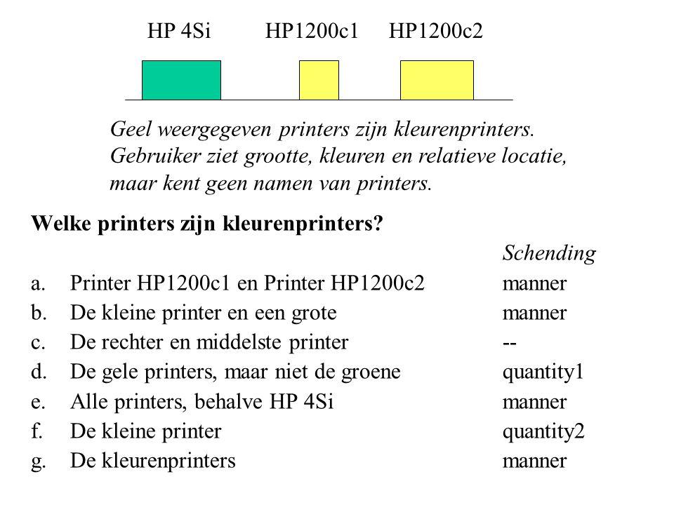 Welke printers zijn kleurenprinters.