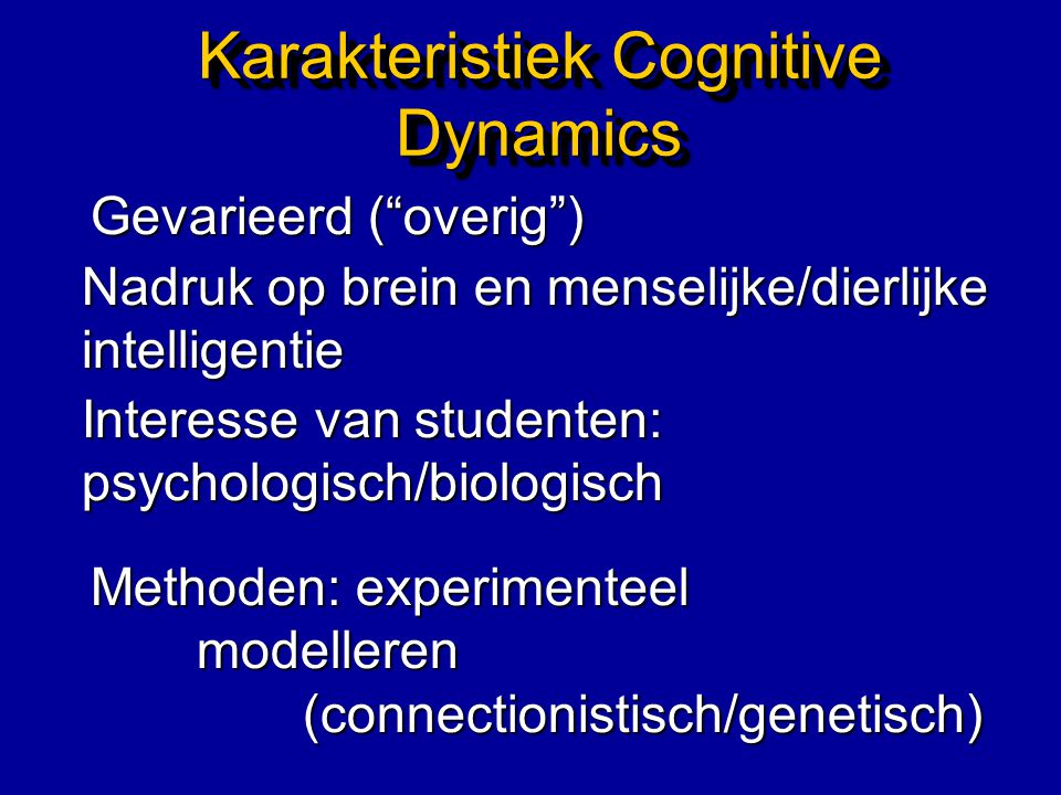 Vaste Vakken Seminar AI Advanced & Applied vision Science Conceptual Semantics