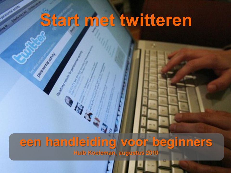 12 Codes  In Nederland is de twitteromgeving een vriendelijke omgeving.