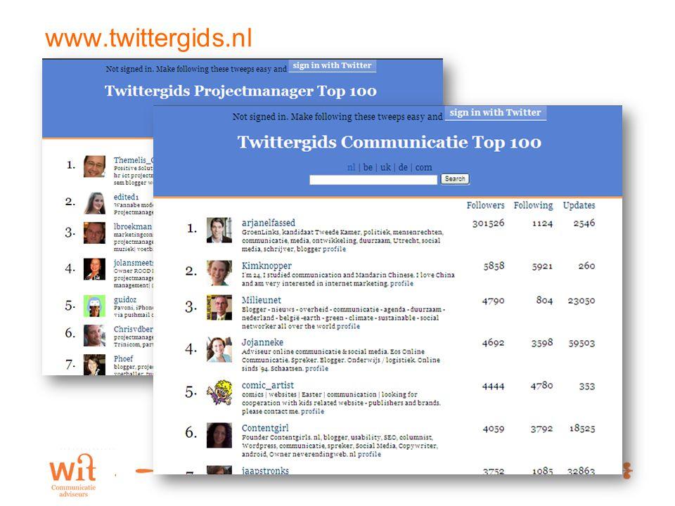 5 www.twittergids.nl