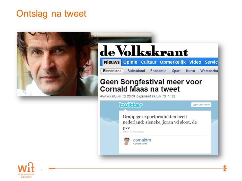 2 Ontslag na tweet