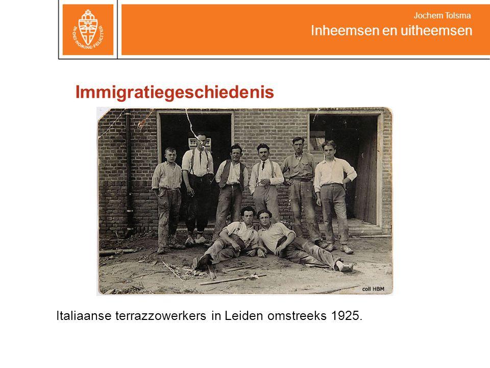 Immigratiegeschiedenis Italiaanse terrazzowerkers in Leiden omstreeks 1925. Inheemsen en uitheemsen Jochem Tolsma