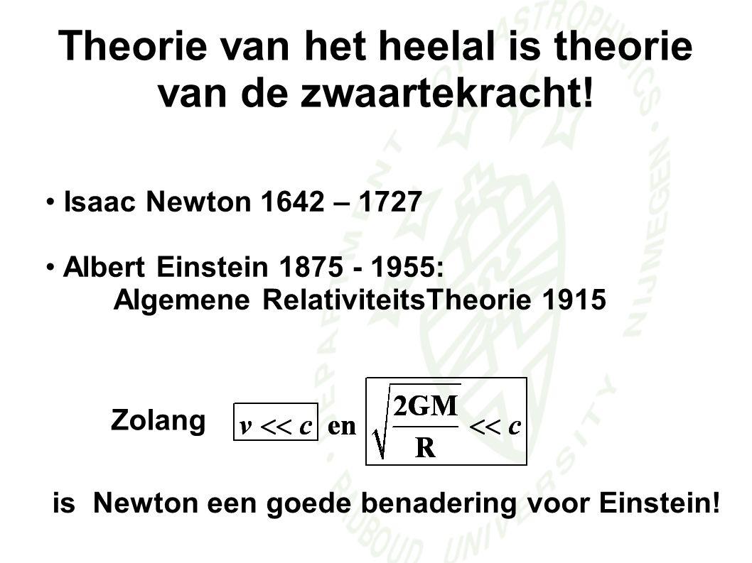 Theorie van het heelal is theorie van de zwaartekracht.