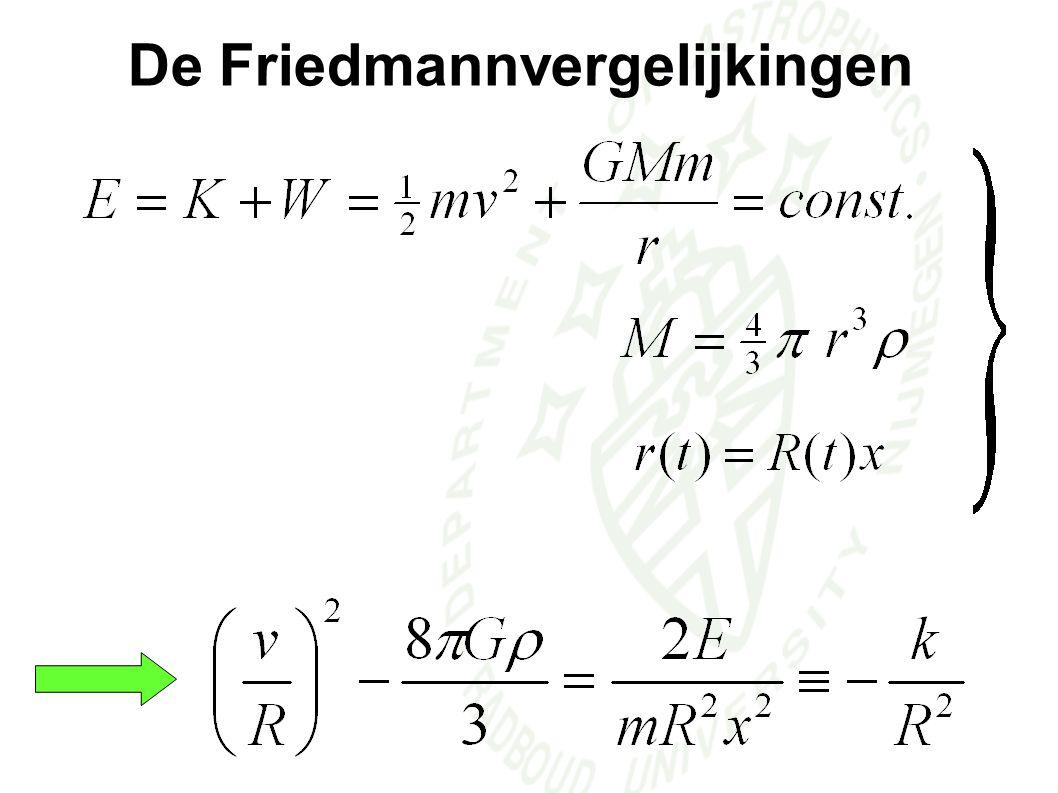 De Friedmannvergelijkingen F1